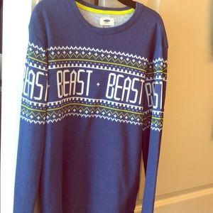 Boys Old Navy Blue Sweater - Sz XL (18)